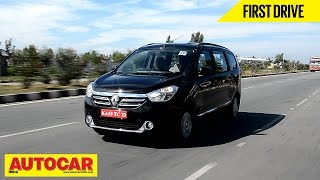 2015 Renault Lodgy MPV | First Drive Video Review | Autocar India