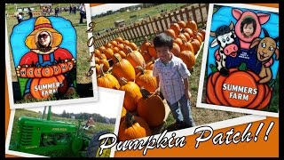 SUMMERS FARM at Frederick, Maryland || Family PUMPKIN PATCH 2015