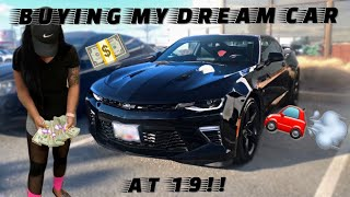 BUYING MY DREAM CAR AT 19!!!   Camaro 2SS   VALENTINES DAY 2020