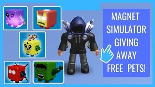 🔴 ROBLOX GIVING AWAY SHINY THAN-BEARS PETS FOR FREE MAGNET SIM | ROAD TO 2,000 SUBS