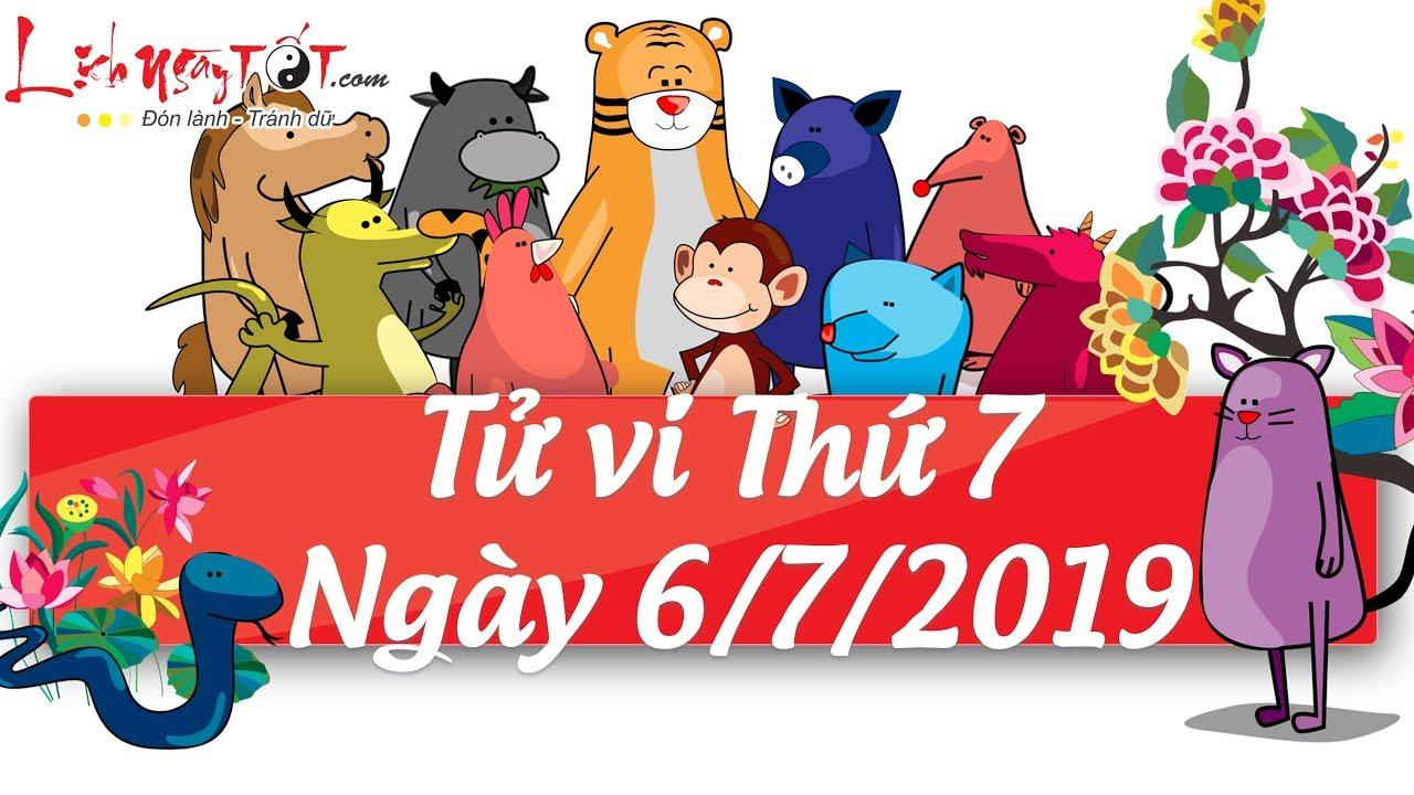 Xem tử vi hàng ngày - Tử vi Thứ 7 ngày 6 tháng 7 năm 2019 của 12 con giáp