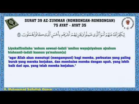 Al Quran Surat 39 Az Zumar Rombongan Rombongan Arab Latin Dengan Terjemahannya