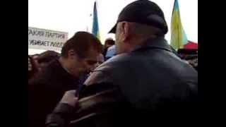 Евромайдан Херсон - губернатор области Николай Костяк