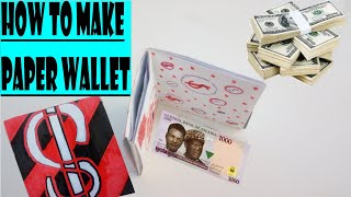 HOW TO MAKE PAPER WALLET//EASY…