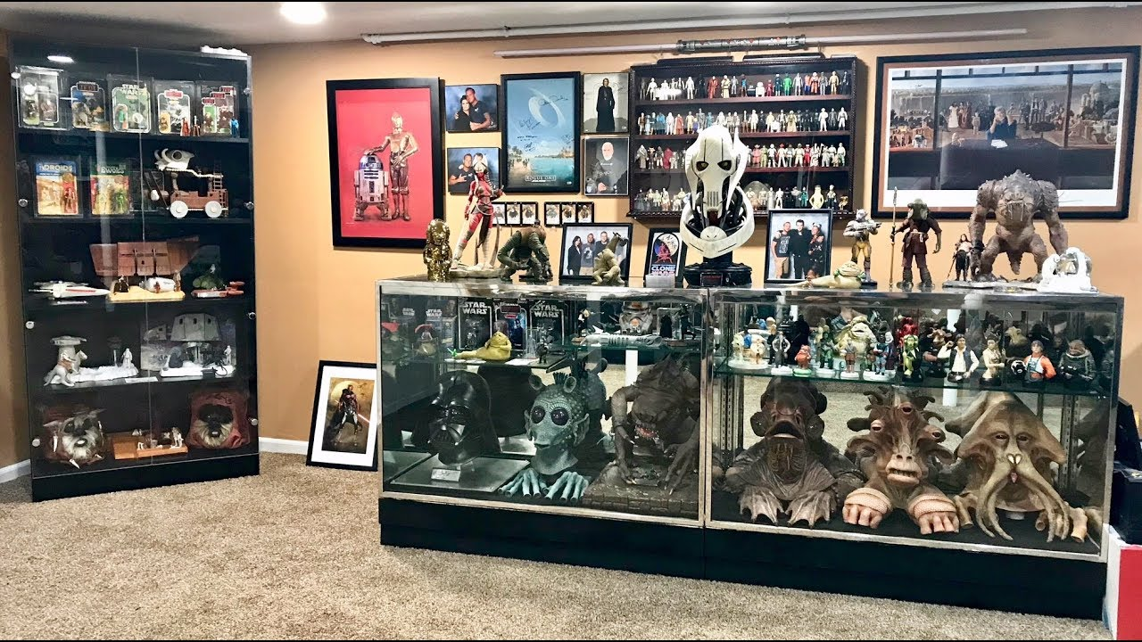 My Ultimate Star Wars Collection Room Tour 2018 Youtube