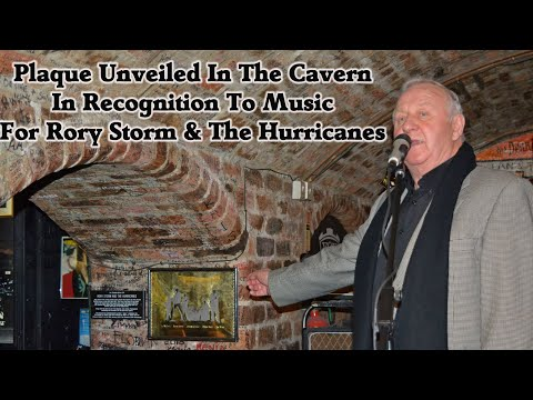Rory Storm And The Hurricanes Plaque Award, Cavern Club, Liverpool 16-1-17