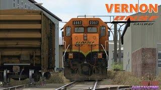 BNSF Train in Vernon CA Part 2