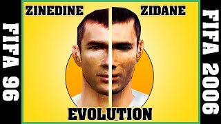 ZINEDINE ZIDANE evolution - FIFA 96 to FIFA 2006 ⚽