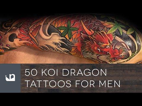 50 Koi Dragon Tattoos For Men