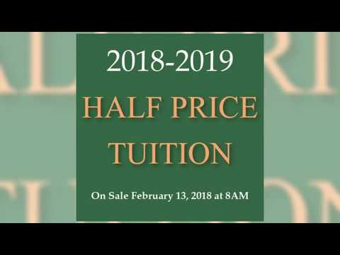 Half Price Tuition 2018