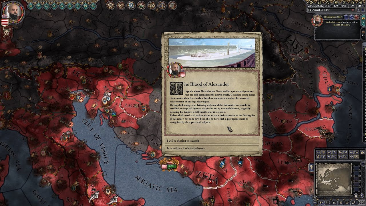 CK2 - Ragusa: Episode 18 - A Crusade, A Plague Epidemic, & The Blood of  Alexander