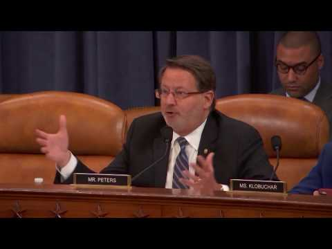 Senator Gary Peters Discusses GOP Tax Plan and Share Buybacks with Fed Chair