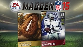Madden 15 Ultimate Team - Thanksgiving Promo! New Legends, Cornucopia Pack is Back! MUT 15