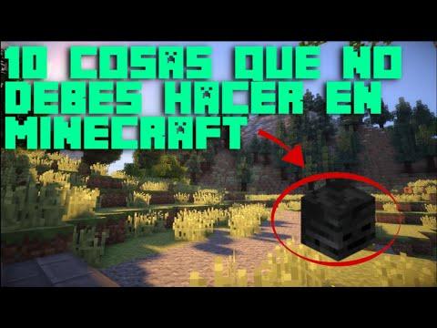 10 Cosas Que No Debes De Hacer En Minecraft | 2020 | GoldemSheep