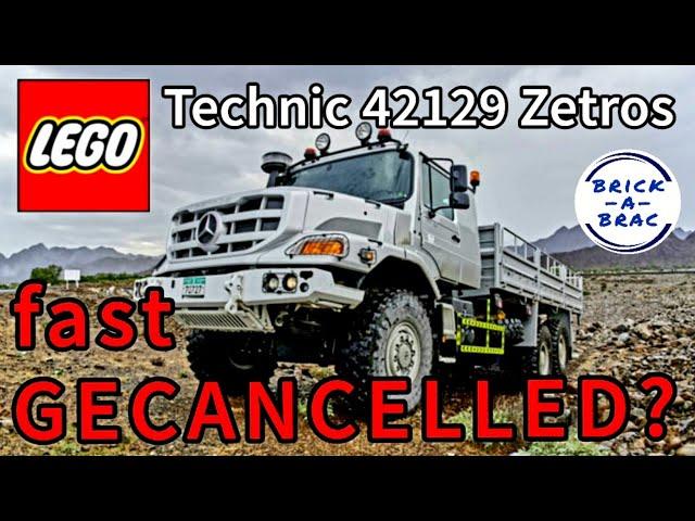 Fast GECANCELLED? LEGO® Technic 42129 Mercedes ZETROS [2021] - deshalb LEAK-Design überarbeitet?