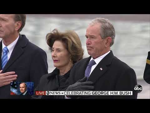 Celebrating George H.W. Bush | Casket departs the Capitol and heads to the National Cathedral