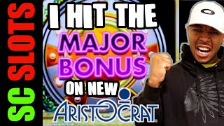 MAJOR Win On New Aristocrat Slot Machine! WELCOME TO FANTASTIC JACKPOTS LOADED Big Win Bonus!