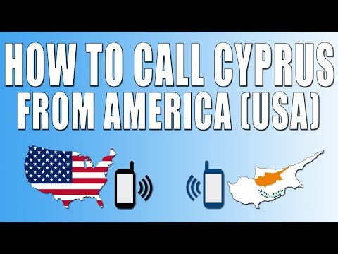 How To Call Cyprus From America (USA)