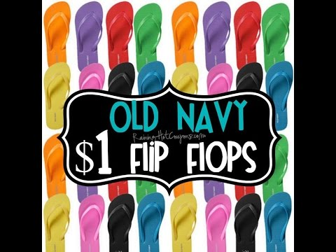 Old Navy $1 Flip Flop Sale (Canada)