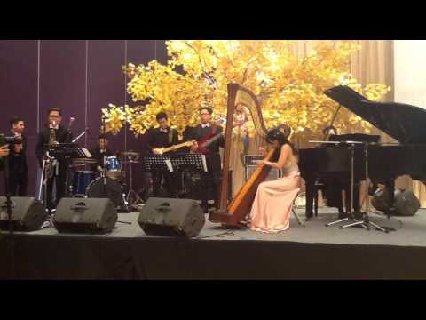 "Kungfu Piano - The Piano Guys [cover] by Maria Pratiwi ""The Harpist"""