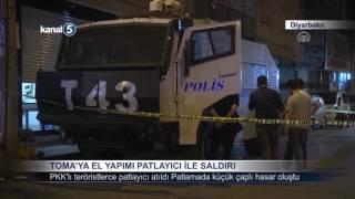 Dİyarbakır'da Toma'ya El Yapımı Patlayıcı İle Saldırı