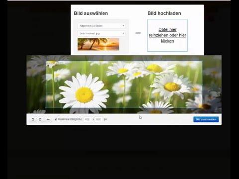 Homepage-Baukasten.de Tutorial: Bilder Beim Hochladen Zuschneiden