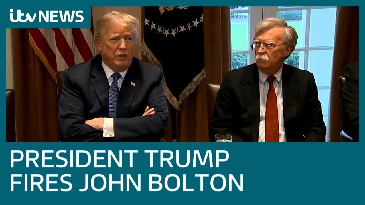 Donald Trump fires national security advisor John Bolton | ITV News