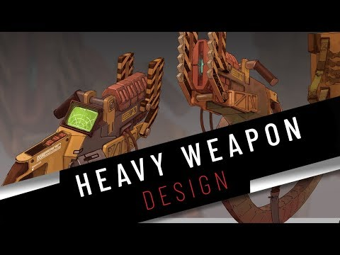 Trailer: Learn how to design and draw a weapon - concept art tutorial thumbnail