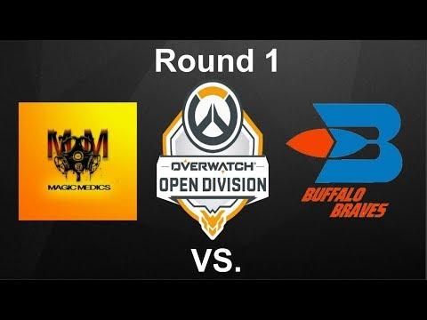 Overwatch Open Division Season 3: Round 1- Magic Medics vs. Buffalo Braves