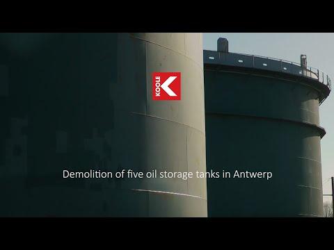 Demolition of Five oil storage tanks in Antwerp