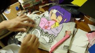 友達が折り紙で切り絵を作っていたので撮影。 モデルは『中二病でも恋が...