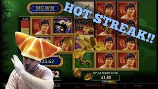 2 MEGA WINS!! Bruce Lee Crushes Six Acrobats ( Online Casino Slots )