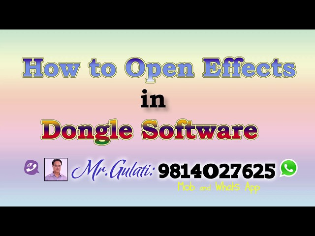 How to open projects For Dongle  Edius Software