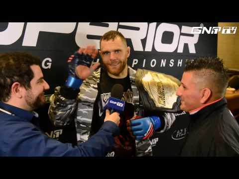 Mattia Schiavolin Interview after winning MW-Title at Superior FC 15