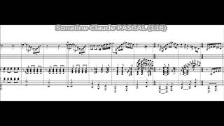 Sonatine for Alto Saxophone and Piano – Play Along (Tempo 116 W/click) – Claude PASCAL