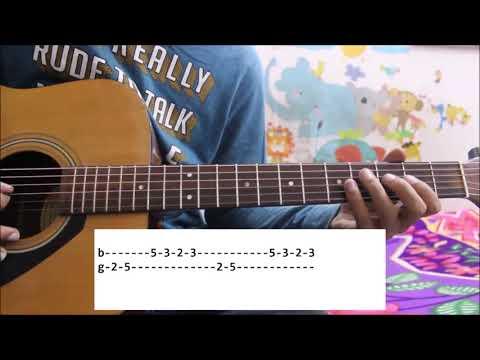 Zara Tasveer Se tu / Meri Mehbooba - Guitar tabs / leads lessons simple cover easy