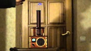 Трансформатор тесла своими руками от кощея.(Трансформатор работает от импульсного блока питания 24V/2A . Сделан на конкурс