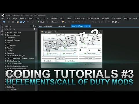 Jtag Coding Tutorials #3 Part 2 UI Elements & Call of Duty Console Commands