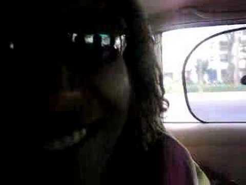 Ali in the taxi