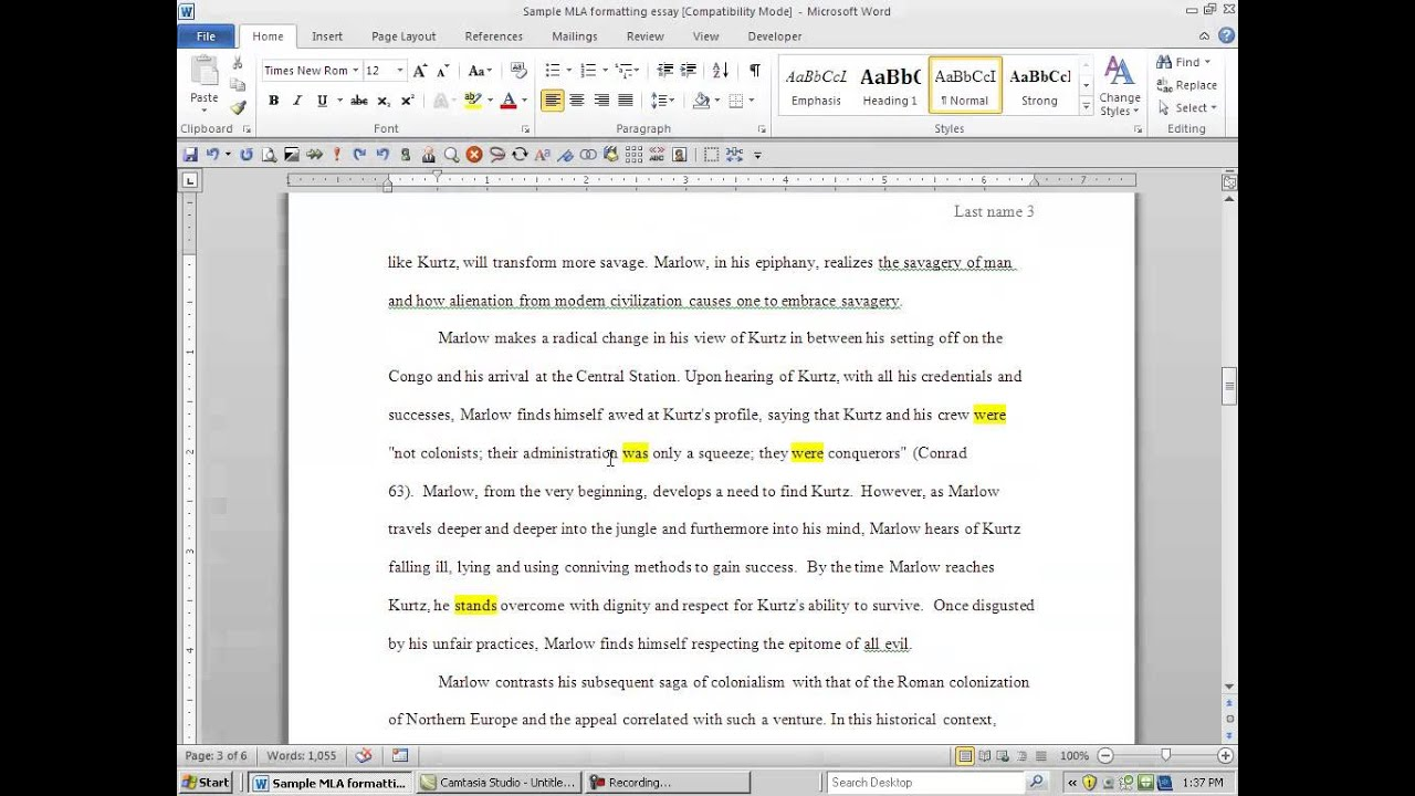 How To Put A Written Essay Into Mla Format