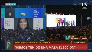 Macri salió a reconocer la derrota en las PASO: