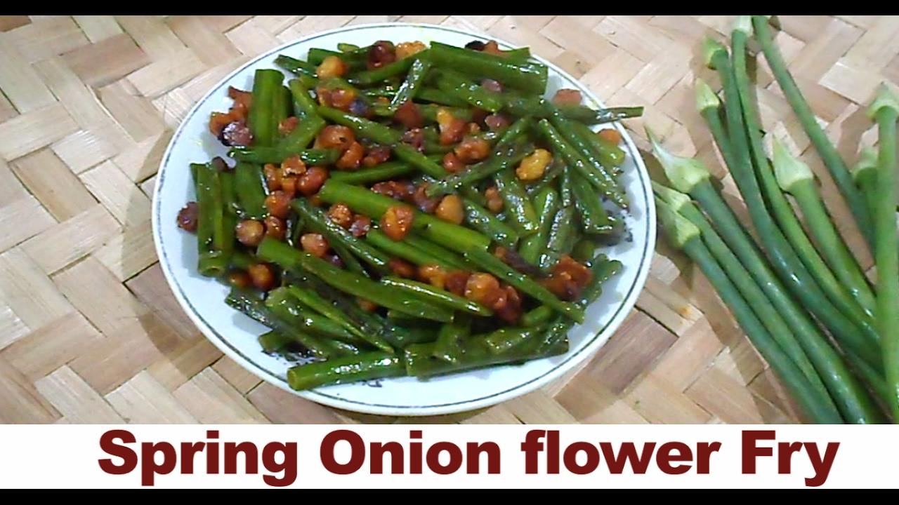 Healthy Spring Onion Flower Fry