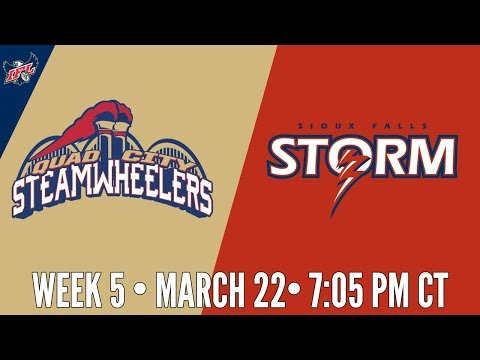 Week 5 | Quad City Steamwheelers at Sioux Falls Storm