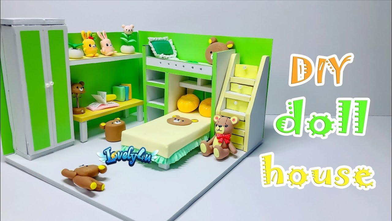 127】DIY MINIATURE DOLL HOUSE【Clay Tutorial┃Lovely4u】