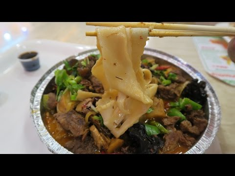 BEST Hand Pulled Beef Noodles in New York! Chinese Food Court