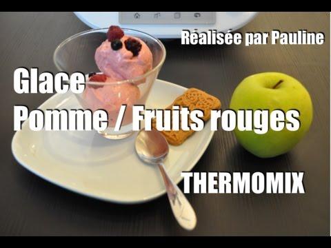 la recette facile de la glace sorbet pomme fruits rouges avec le thermomix pour les enfants tm5