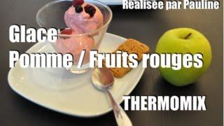 glace sorbet pomme fruits rouges