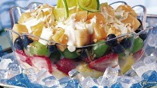 Рецепт фруктового салата  Вкусно и полезно