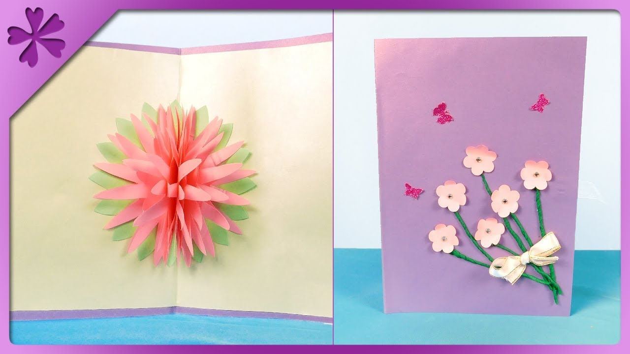 Diy how to make 3d flower greeting card for grandparents day eng diy how to make 3d flower greeting card for grandparents day eng subtitles speed up 443 m4hsunfo