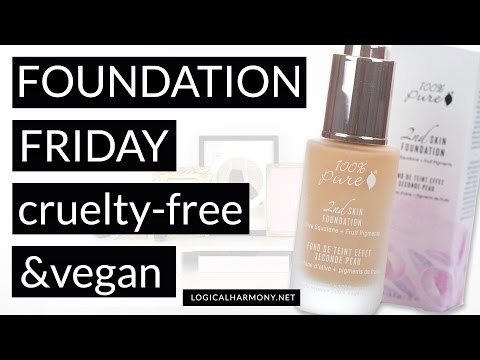 100% Pure Second Skin Foundation Review #FoundationFriday (Cruelty Free & Vegan!) - Logical Harmony